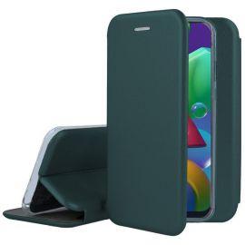 """Tamsiai žalias atverčiamas dėklas Samsung Galaxy A035 A03s """"Book Elegance"""""""