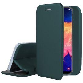 """Tamsiai žalias atverčiamas dėklas Samsung Galaxy A105 A10 """"Book Elegance"""""""
