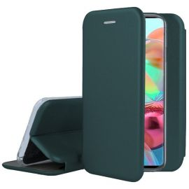 """Tamsiai žalias atverčiamas dėklas Samsung Galaxy A715 A71 """"Book Elegance"""""""