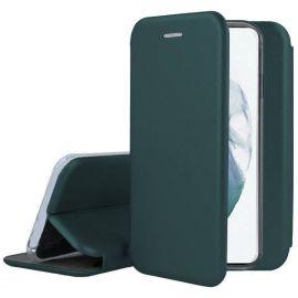 """Tamsiai žalias atverčiamas dėklas Samsung Galaxy S21 """"Book Elegance"""""""