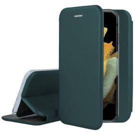 """Tamsiai žalias atverčiamas dėklas Samsung Galaxy S21 Ultra """"Book Elegance"""""""