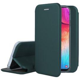 """Tamsiai žalios spalvos atverčiamas dėklas Samsung Galaxy A505 A50 / A507 A50s / A307 A30s """"Book Elegance"""""""