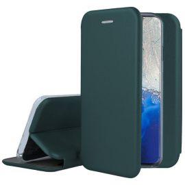 """Tamsiai žalios spalvos atverčiamas dėklas Samsung Galaxy S20 FE """"Book Elegance"""""""