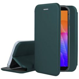 """Tamsiai žalios spalvos atverčiams dėklas Huawei Y5P """"Book Elegance"""""""