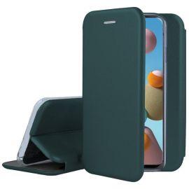 """Tamsiai žalios spalvos atverčiams dėklas Samsung Galaxy A31 """"Book Elegance"""""""