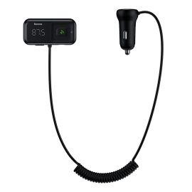Transmiteris Baseus T-Typed S-16 Bluetooth MP3 grotuvas / FM bangų moduliatorius