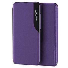 """Violetinis atverčiamas dėklas Xiaomi Redmi Note 10 / Redmi Note 10S """"Smart View"""""""