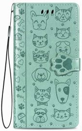 """Žalias dėklas Samsung Galaxy A217 A21s """"Cat-Dog"""""""
