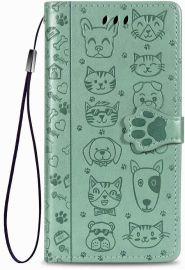 """Žalias dėklas Samsung Galaxy A515 A51 """"Cat-Dog"""""""