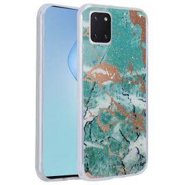 "Žalias dėklas Samsung Galaxy Note 10 Lite / A81 ""Marmur"""